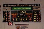 Basketball Scoreboard with Message Display & Stats Panels. South Hills H.S. Covina, Ca