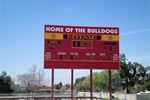 Football Scoreboard with Message Display. Hemet H.S. Hemet, Ca