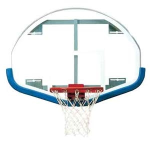 """Picture of Bison 39"""" x 54"""" Extended Life Competition Fan-Shaped Glass Backboard"""