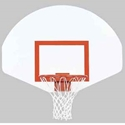 "Picture of Bison 39"" x 54"" Fan-Shaped Dura Steel™ Backboard"