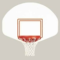 "Picture of 39"" x 54"" Bison Rust-Free Polyethylene Fan-Shaped Backboard"