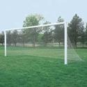 """Picture of Bison ShootOut™ 4"""" Square Aluminum Permanent/Semi Permanent Soccer Goals"""