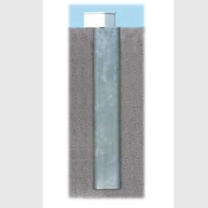 """Picture of Bison 4"""" Square Ground Sleeve for In-Ground Aluminum Soccer Goals"""