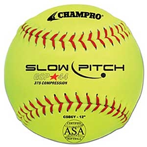 """Picture of Champro 12"""" Game .44 Slow Pitch Softball - ASA Certified"""