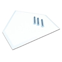 "Picture of Champro White Molded Waffle Bottom Rubber Home Plate - 1"" Thickness; 3-Spike"