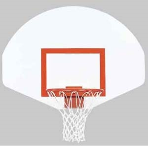 """Picture of Bison 39"""" X 54"""" Economy Front Mount Steel Backboard"""