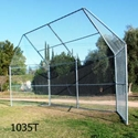 Picture of L.A. Steelcraft Full Sized Permanent Baseball Backstop
