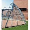 Picture of L.A. Steelcraft Layback Arch Baseball Backstop