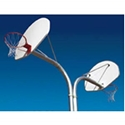 Picture of L.A. Steelcraft Back To Back Curved Basketball Posts