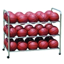 Picture of Athletic Connection Double-Wide Steel Ball Cart