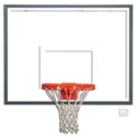 "Picture of Gared® 42"" x 54"" Rectangular Glass Backboard with Steel Frame"