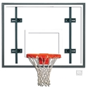 "Picture of Gared® 42"" x 54"" Auxiliary Rectangular Glass Backboard with Steel Frame"