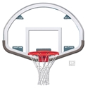 "Picture of Gared® 39"" x 54"" Auxiliary Fan-Shape Glass Backboard with Steel Frame"