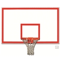 "Picture of Gared® 42"" x 72"" Fiberglass Rectangular Backboard with Orange Target and Border"