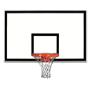 "Picture of Gared® 42"" x 72"" Fiberglass Rectangular Backboard with Black Target and Border"