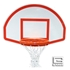 """Picture of Gared® 35½"""" x 54"""" White Powder-Coated Aluminum Fan-Shape Backboard with Target and Border"""