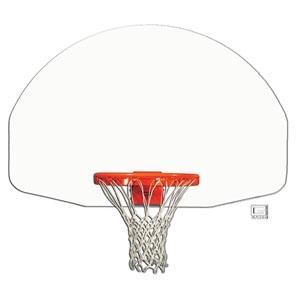 """Picture of Gared® 35"""" x 54"""" Front Mount Steel Fan-Shape Backboard"""