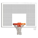 "Picture of Gared® 42"" x 72"" Perforated Steel Rectangular Backboard with Target and Border"