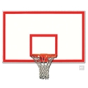 "Picture of Gared® 42"" x 72"" Steel Rectangular Backboard with Target and Border"