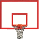 "Picture of Gared® 42"" x 60"" Steel Rectangular Backboard with Target and Border"