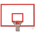 """Picture of Gared® 48"""" x 72""""  Steel Rectangular Backboard with Target and Border"""