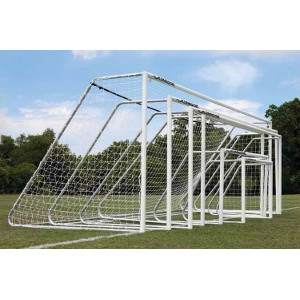 """Picture of AlumaGoal 3"""" Powder Coated Round Classic Club Soccer Goal"""