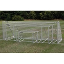 "Picture of AlumaGoal Natural Aluminum 3"" Round Classic Club Soccer Goals"