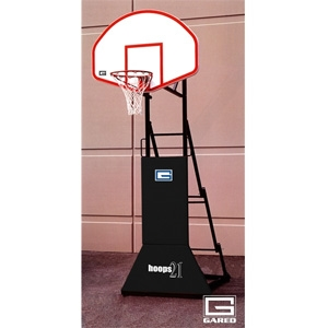 """Picture of Gared HOOPS 21™ """"3 on 3"""" Height Adjustable Portable Basketball System - 54"""" Fiberglass"""