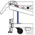 Picture of Gared Automatic Front Wheel Lift System for Gared Pro S Portable Basketball System