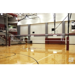 Picture of Gared SkyMaster Two-Court Volleyball System with Referee Stand