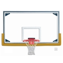 "Picture of Gared 42"" x 72"" Regulation Glass Basketball Backboard with Steel Frame"