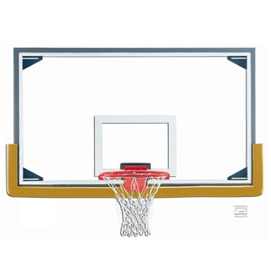 """Picture of Gared 42"""" x 72"""" Regulation Glass Basketball Backboard with Steel Frame and Glass Retention System"""