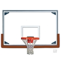 "Picture of Gared 48"" x 72"" Tall Glass Basketball Backboard with Steel Frame"