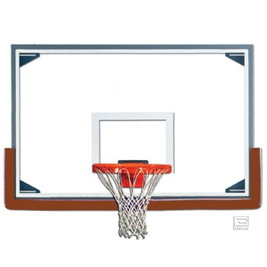 """Picture of Gared 48"""" x 72"""" Tall Glass Basketball Backboard with Steel Frame"""
