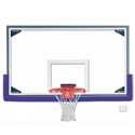 "Picture of Gared® 42"" x 72"" Regulation Glass Basketball Backboard with Aluminum Frame"