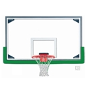 "Picture of Gared® 42"" x 72"" Economy Regulation Glass Basketball Backboard with Aluminum Frame"
