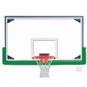 "Picture of Gared® 42"" x 72"" Regulation Glass Basketball Backboard with Aluminum Frame and Glass Retention System"