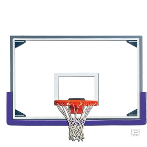 """Picture of Gared 48"""" x 72"""" Tall Glass Basketball Backboard with Aluminum Frame"""