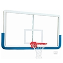 """Picture of Gared® 42"""" x 72"""" Pro OuterLimit Aluminum Uni-Framed Glass Backboard With Center Strut"""