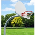 "Picture of Gared® 4-1/2"" Standard Duty Outdoor Gooseneck Basketball Package"