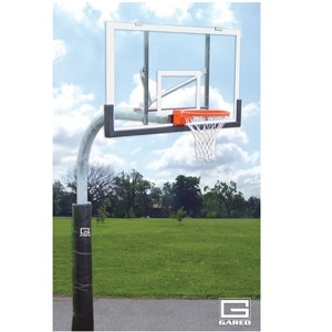 """Picture of Gared 5-9/16"""" Heavy-Duty Outdoor Gooseneck Basketball Package"""