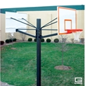 "Picture of Gared 6"" Endurance® Playground Basketball Double Backboard System"