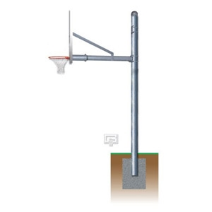 """Picture of Gared 5-9/16"""" Adjustable Basketball Straight Post"""