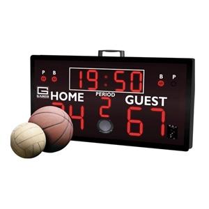 "Picture of Gared Alphatec™ 52"" x  28"" Portable Basketball Scoreboard"