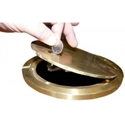 Picture of Bison Lockable Hinged Brass Volleyball Floor Plate