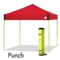 Picture of E-Z UP Pyramid Canopy Shelter 10' X 10' Punch Top & White Steel Frame
