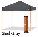 Picture of E-Z UP Pyramid Canopy Shelter 10' X 10' Grey Top & White Steel Frame