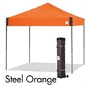 Picture of E-Z UP Pyramid Canopy Shelter 10' X 10' Orange Top & Grey Steel Frame