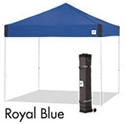 Picture of E-Z UP Pyramid Canopy Shelter 10' X 10' Royal Blue Top & White Steel Frame