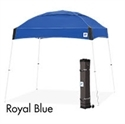 Picture of E-Z UP Dome Canopy Shelter 10' X 10' Royal Blue Top & White Steel Frame
